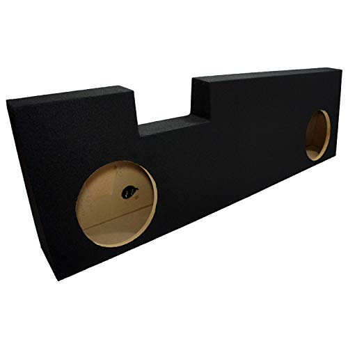 """Compatible with Ford F250 or F350 Super Crew Cab Truck 2001-2014 Dual 10"""" Subwoofer Sub Box Speaker Enclosure"""