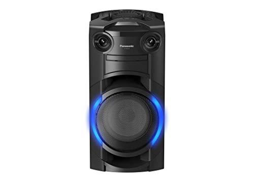 Panasonic SC-TMAX10 Party Lautsprecher mit Bluetooth (Karaoke Lautsprecher, Lichteffekte, Bass Lautsprecher, 300W) schwarz