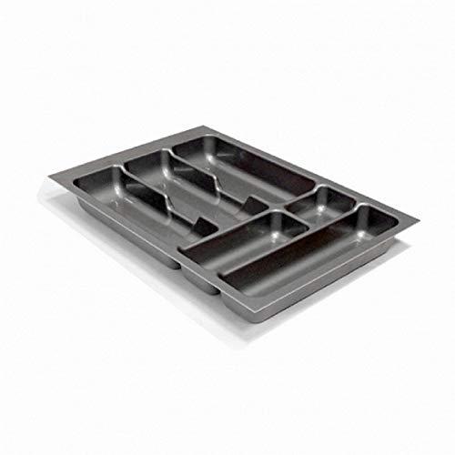 Besteckeinsatz Schubladeneinsatz Besteckkasten Comfort Universal   für 40er Schubladen   zuschneidbar von 308-335 mm   Silbergrau  