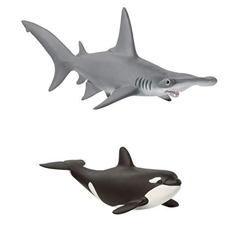 Wildlife Schleich 14835 Hammerhai + 14836 Orka Junges