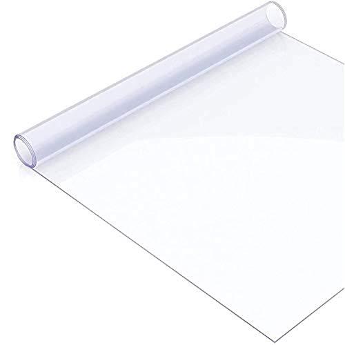 MY1MEY Nappe Transparente en PVC écologique, Nappe Rectangulaire Antitache, 0.5mm Nappe Imperméable de Table, antidérapant, résistant aux Rayures, pour comptoir(0.5mm40x60cm/15.75x23.62in)