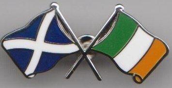 Irlande et écossais Écosse amitié DRAPEAU BADGE