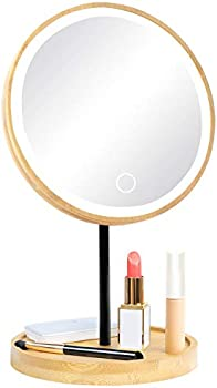 Fabuday Bamboo Mirror with 3 Color Lights