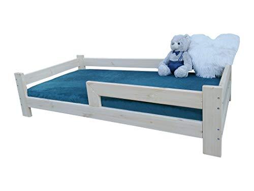 Cama infantil NeedSleep con protección anticaídas, 70 x 140, 80 x 160, 90 x 180, cama infantil con somier de láminas, para niñas y jóvenes, de madera (70 x 140 cm)
