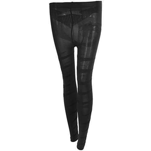 CHICIRIS Pantimedias para Mujer, Medias de compresión con Soporte para Manguera, Medias Delgadas, Calcetines moldeadores de piernas (Nueve décimas de Longitud-M)