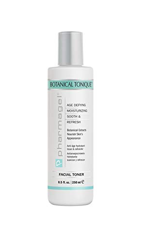 Pharmagel Botanical Tonique Facial Toner for All Skin Types | Tone Skin & Pore Minimizer | Refreshing and pH Balancing | Face Moisturizer Toner - 8.5 fl. oz.