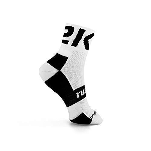 42K RUNNING - Calcetín técnico 42K MAKALU Blanco-Negro M (39-42)