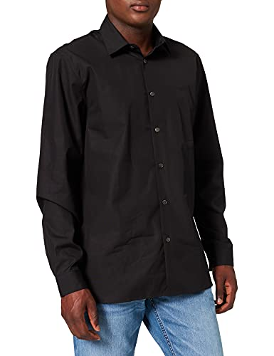 Lacoste CH2935 Camisa de Vestir, Black, S para Hombre