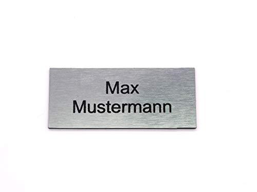 Letrero de buzón Placa de identificación Placas de identificación Etiquetas de buzón Grabado Autoadhesivo | Resistente a la intemperie | Grabado láser | Tamaños 60x20mm y 80x35mm (8x3,5cm)
