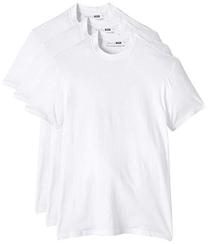 Dim Eco Dim, Camiseta para Hombre, Blanco, Small (talla del fabricante: M), Pack of 3