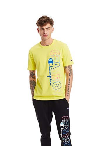 Champion Life Herren Heritage Short Sleeve Tee T-Shirt, Journey Yellow, Klein