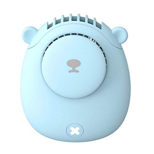 SOLUSTRE Ventilador de Cuello Colgante Ventilador Deportivo Mini Ventilador Portátil Perezoso Ventilador de Carga USB