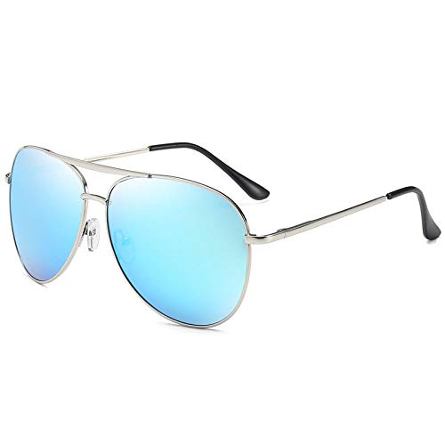 NJJX Mujeres Hombres Gafas De Sol Polarizadas Moda Gafas De Sol Sombras Gafas Retro Azul-Gris