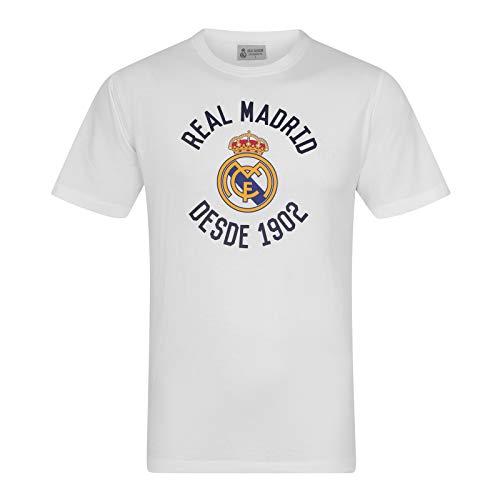 Real Madrid - Herren T-Shirt mit Grafik-Print - Offizielles Merchandise - Weiß - L