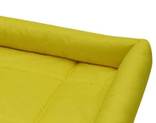NANIH PetSuppliesMisc Hundekomfort-Bett-Selbstkühlungs-Auflage-Haustier-Kühlvorrichtung Kühlbett-Haustier-Kühlmatte (Gelb, L) für Katze/Hund - 3