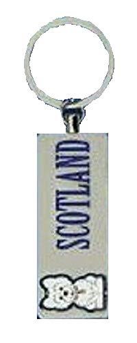 Schlüsselanhänger mit schottischem West Highland Terrier, Metall, Souvenir, Geschenk, Schlüsselanhänger