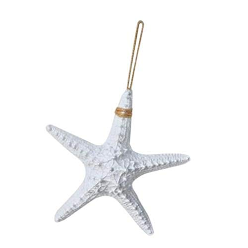 Chilits 1 Pcs Hanging Resin Starfish Mediterranean Style Wall Decoration Large Resin Starfish Wall Hanging Ornament for Christmas Tree Hanging Ornaments Beach Theme Wedding Home Decor