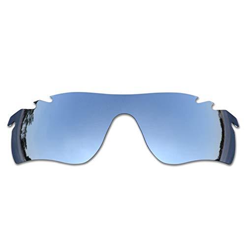 SOODASE Para Oakley Radarlock Path Vented Gafas de sol Plata Lentes de repuesto polarizadas