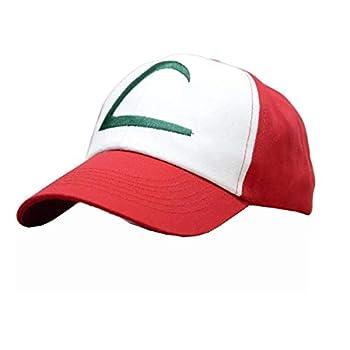 Pokemon Ash Ketchum Baseball Snapback Cap Trainer Hat for Adult Embroidered Adjustable Red