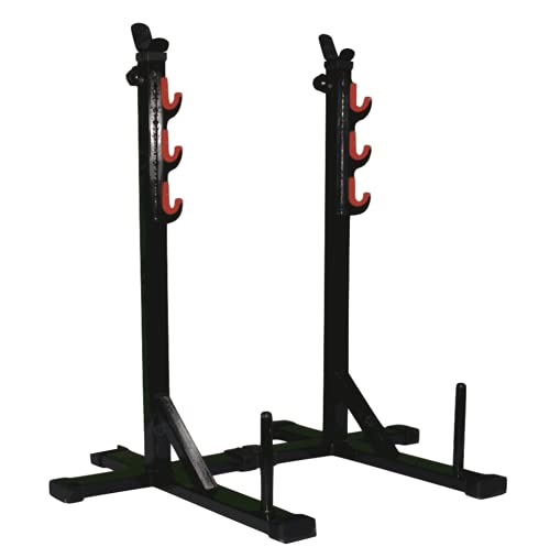 HASHTAG FITNESS Multi-Function Squat Stand Fully Adjustable Home Gyms Barbell Stand for Squat Equipment for Home, Black