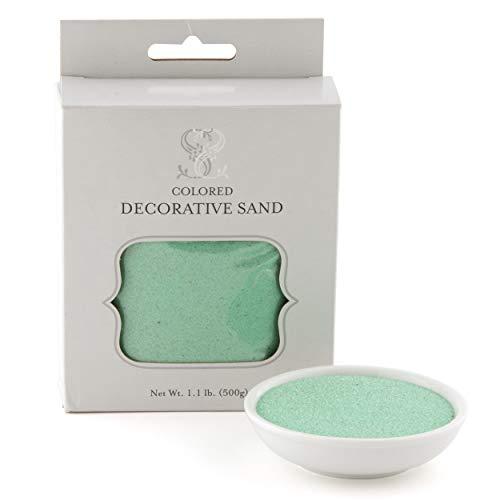 Deko Sand Pastell Grün für Vasen 500 Gramm Pack