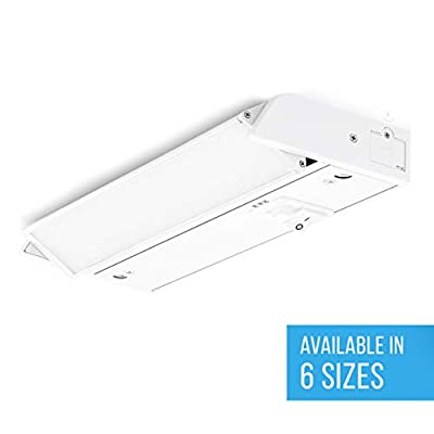 PARMIDA LED Swivel Under Cabinet Light (Adjustable Lens Angle), Hardwired or Plug-in, 8 Inch, 6W, 360lm, Dimmable, Linkable, 3-in-1 Color Levels, On/Off Switch Included, ETL & ENERGY STAR, 120V