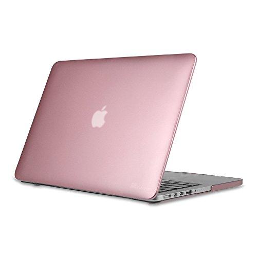 Fintie Hülle Kompatibel mit MacBook Pro 13 Retina A1502 / A1425 (2012-2015) - Superdünne Plastik Hartschale Schutzhülle Snap Hülle Kompatibel mit MacBook Pro Retina 13 Zoll Ältere Version, Roségold