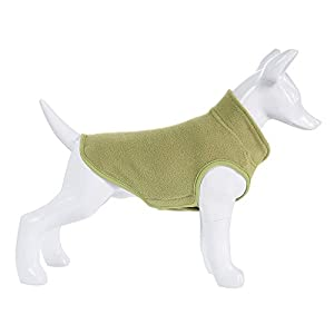 Mile High Life | Dog Fleece Vest | Adjustable Chest Size | Easy Step in Easy Closure | Small Dogs Cats Pets,Green,XS (Girth: 14.5″-16.5″, Length: 10″)