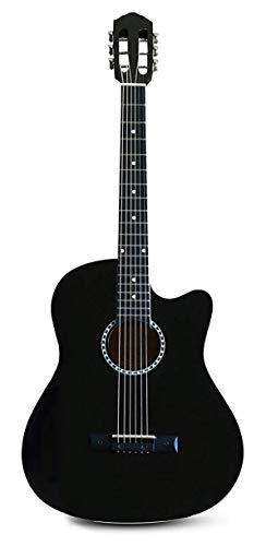 GUITAR BRO - COMBO (Black Acoustic Guitar for Beginner, Guitar Learning Kit,...
