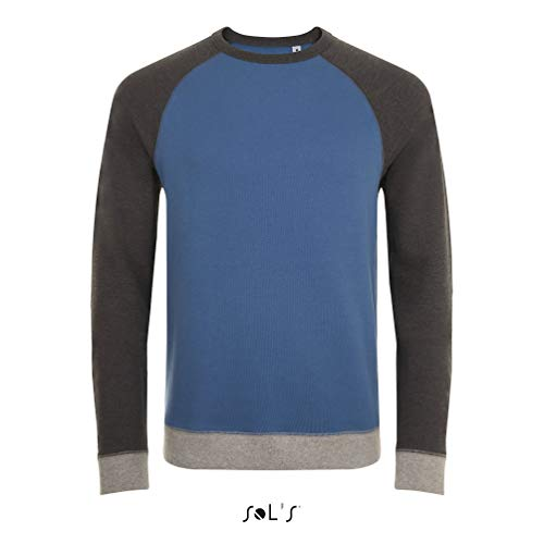 Sols - Unisex Sweatshirt 'Sandro' / Slate Blue/Charcoal Melange, XXL