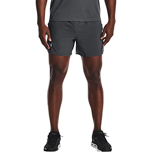 Under Armour Men's Launch Stretch Woven 5-Inch Shorts , Pitch Gray (012)/Reflective, XX-Large