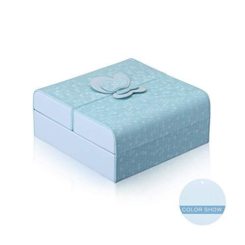 ZYC Broches con cuello alzado Caja Joyería Regalo Joyería embalaje para hombres que desean un juego para niños, color azul