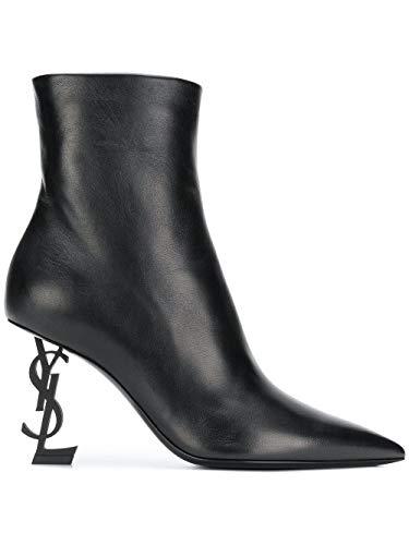 Saint Laurent Luxury Fashion Damen 5637540RRUU1000 Schwarz Leder Stiefeletten | Jahreszeit Permanent