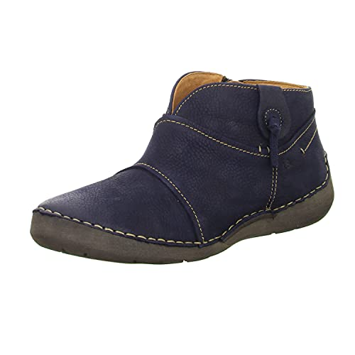 Josef Seibel Damen Ankle Boots Fergey 93,Weite G (Normal),lose Einlage,knöchelhoch,reißverschluss,Women's,Woman,Lady,Ladies,Blau (Ocean),39 EU / 6 UK