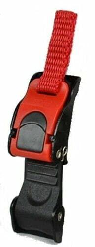 Global Trade Chiusura a Fibbia per Casco Moto - Universale - Gancio Cronometrico e Micrometrico a scatto - Sgancio Rapido e Sicuro (1 Pz)