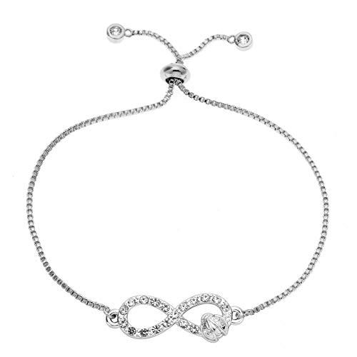 DMUEZW Geometrische 8 Word Armbanden Kristal Sieraden Infinity Ketting Link Slide Armband Bangle Voor Vrouw
