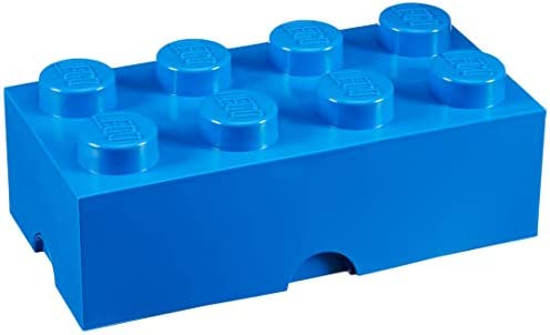 LEGO Brick 8 Knobs Stackable Storage Box Blue product image