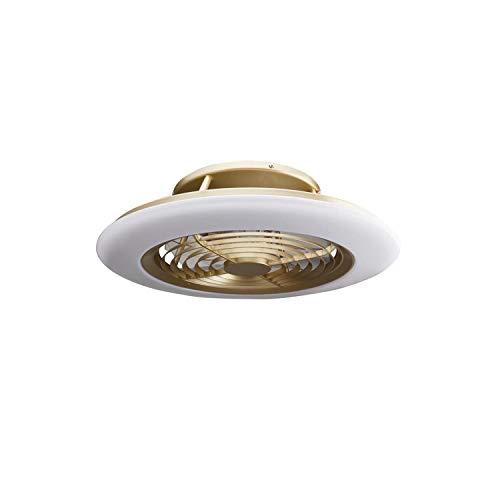 Plafón con ventilados ALISIO - Iluminación interior MANTRA - LED 70W Ventilador 30W - Dimable 2700K-5000K - color cuero