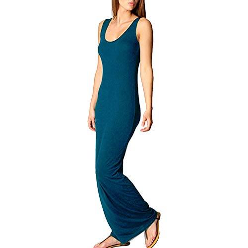 Lange jurk voor vrouwen – party losse casual zonder mouwen Plaine Boho Maxi Sundress S-3XL
