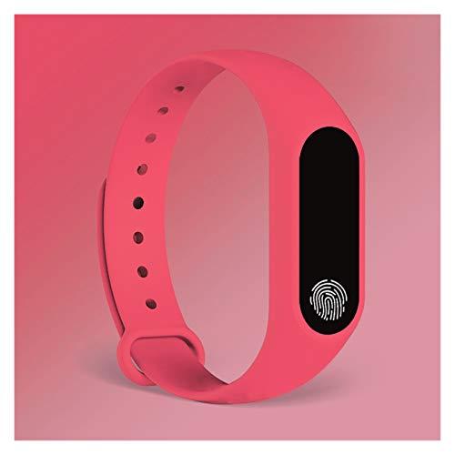 YDL Pulsera Deportiva Reloj Inteligente Relojes para Niños Niños para Niñas Niños Pulsera Infantil Banda Inteligente Banda Fitness Tracker (Color : Pink)