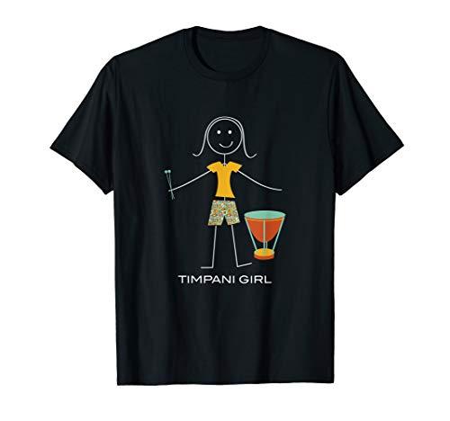 Funny Womens Timpani Design, Girl Music Gifts T-Shirt