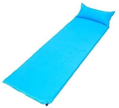 Sac de couchage Autogonflant de Couchage Sac 1 Station de Coussin de gaz, Coussin randonnée Sac à Dos de Camping sous la Tente Seule Personne Tapis de Couchage, Couleur Mat: Bleu (Color : Blue)