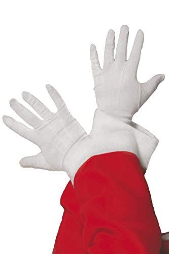 Smiffy's-98217 Guantes de Papá Noel, Color Blanco, Tamaño único (98217)