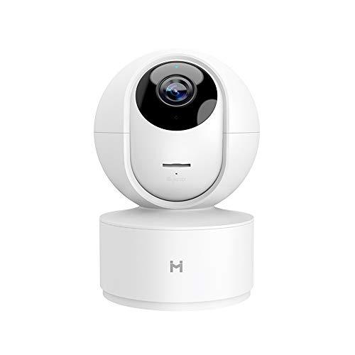 Mihome IMILAB Caméra de sécurité, 360 degrés, HD, réponse d'urgence, 24 Heures sur 24, Auto-Croisement, trajectoire de Mouvement, Vision Nocturne, Application iOS / Android Disponible (1080P)