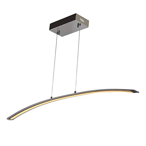 JONATHAN Y Roxanna 41.5 in. Dimmable Adjustable Integrated LED Chrome Metal Linear Pendant
