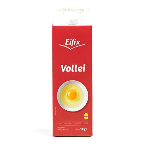 Eifix - Vollei hergestellt aus ca. 20 Eiern 1 kg Packung - Eipro Eier Ei flüssig ohne Konservierungsstoffe ideal für Rührei und zum Kochen (pasteurisiert)