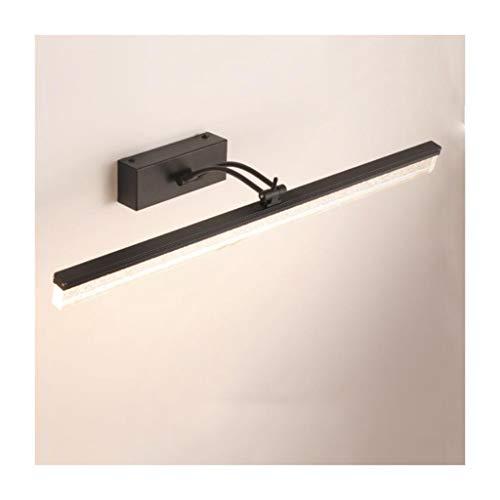 SOARLL- RVS Spiegel Koplampen LED Badkamer Spiegelkast Dressing Tafellamp Gratis Punch Wasstandaard Waterdichte Spiegelkast Lamp [Energie Klasse A ++] (Kleur : Warm Licht)