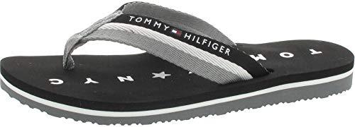 Tommy Hilfiger Damen Tommy Loves NY Beach Sandal Zehentrenner, Black 990, 40 EU
