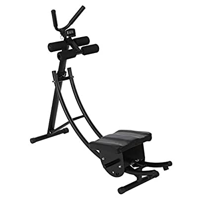 Cuoff [Ship from US] Fitness Core & Abdominal Trainers AB Workout Machine Home Gym Lazy Abdomen Machine Strength Training Ab Cruncher Foldable Roll Abdominal Training Fitness Equipment