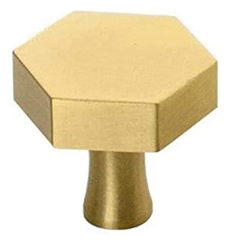 ZJSXIA Antiguo Oro Hexagonal perillas de latón Mando del gabinete manija perillas cómoda cajón Hardware Cocina Muebles de Cocina, 32x26mm Tirador Cocina (Color : 25x26mm)